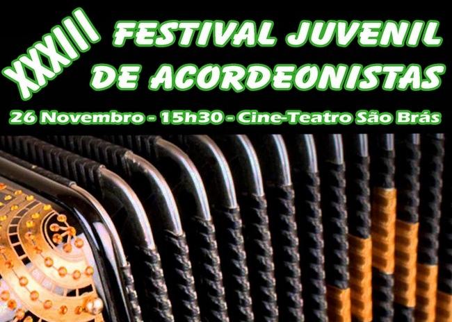 cartaz do XXXIII festival de acordeonistas de são brás de alportel